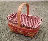 Longaberger Basket #6 with protector and liner in Naperville, Illinois
