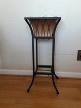 Brown metal plant stand in Wheaton, Illinois