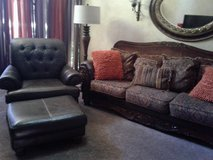 Couch and chair and ottoman used condition in Lockport, Illinois