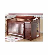Crib with dresser (Sorelle-Tuscany-4-in-1-Convertible-Crib-Changer-Combo) in DeKalb, Illinois