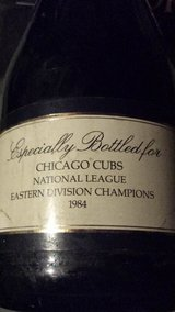 Chcago Cubs Rare 1984 Division champions German made Champagne Bottle Rare in bookoo, US