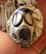 Authentic M17A 2 Gas Mask, Decontamination kit in Byron, Georgia