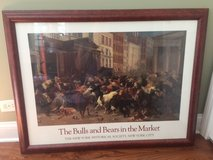 """Bulls and the Bears"" framed picture in Glendale Heights, Illinois"