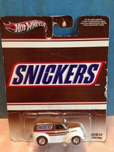 HOT WHEELS POP CULTURE CANDY SNICKERS - ANGLIA PANEL TRUCK Red Line Tires in Glendale Heights, Illinois