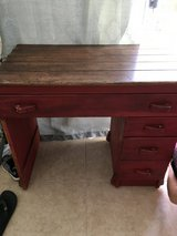 Old desk in Vacaville, California
