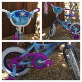 Girls 12 inch Huffy Disney Frozen Northern Lights Bike in Travis AFB, California