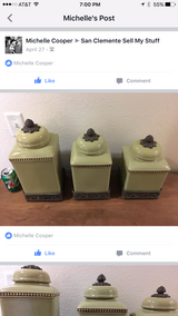 Green canisters in San Clemente, California