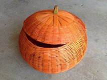 Wicker Pumpkin to store things in in Aurora, Illinois