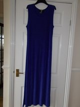 Dress size Large by Nina Charles Blue Long sleeveless stretch in Cambridge, UK