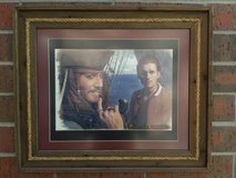 Disney Pirates of the Caribbean Depp Bloom Movie Framed Print Picture in Chicago, Illinois