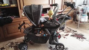 Baby trend double stroller w/snugride in Ramstein, Germany