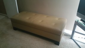 Genuine Real Leather Ottoman with Storage in Naperville, Illinois