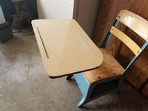 Vintage school desk in Fort Campbell, Kentucky