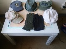 Mens military hats and gloves in Beaufort, South Carolina