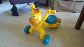 Fisher Price Ride On Giraffe Bike in Bartlett, Illinois