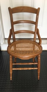 Antique Wood Chair with Cane Rattan Seat in Naperville, Illinois
