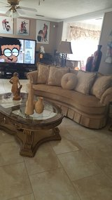 Champagne Sofa set and granite tables in Dothan, Alabama