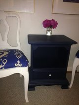 Dark navy end table in Fort Riley, Kansas