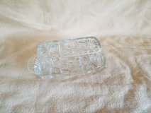 Vintage Cut Glass Covered Butter Dish in Camp Lejeune, North Carolina