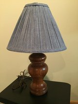 Solid Wood Lamp Base and shade in Bolingbrook, Illinois