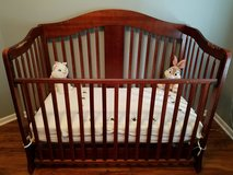 5 Piece Nursery Furniture Convertible Crib, dresser, toy chest, mattress, and changing table/dre... in Naperville, Illinois