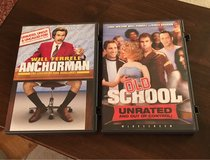 Anchorman/Old School DVDs in Bolingbrook, Illinois