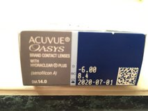 ACUVUE Oasis contact lens in Glendale Heights, Illinois