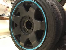 "17"" RIMS / WHEELS  AND TIRES 6 HOLE / 6 LUG (5pcs) in Okinawa, Japan"