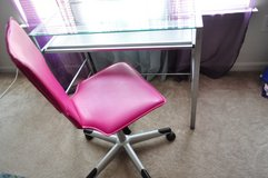Glass Top Desk & Office Chair Set (2 AVAILABLE) in Fort Carson, Colorado