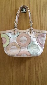 Coach Pink & Silver Patchwork Carly Purse in Fort Irwin, California