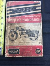 Triumph Owner's Handbook, for 650 C. C. Triumph Thunderbird in Camp Lejeune, North Carolina