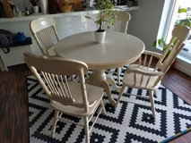 Solid Wood Dining Table Shabby Chic Cream Off-White in Ramstein, Germany