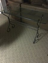 Glass console table in Glendale Heights, Illinois