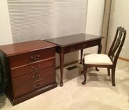 Wood Desk, Chair, & Filing Cabinet in Naperville, Illinois