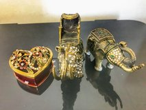 Elephant and heart jewelry boxes in Okinawa, Japan