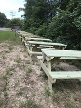 6' picnic tables in Coldspring, Texas