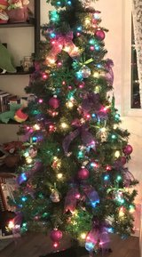6.5 ft Christmas tree with decors in Camp Pendleton, California