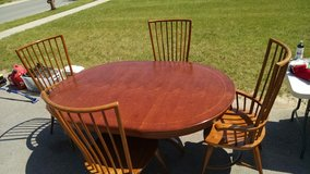 Solid Oak table and chairs in Watertown, New York
