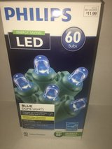 Mini LED Blue Dome Lights in Westmont, Illinois