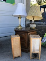 Lamps being sold at a garage sale in Vallejo today in Travis AFB, California