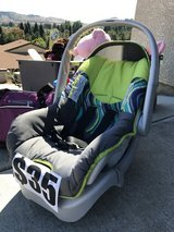 Car seat being sold at a garage sale in Vallejo today in Vacaville, California