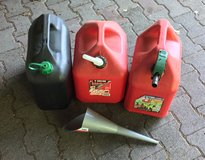 Gas cans 3 - 5 gallon cans with funnel in Ramstein, Germany