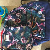 Old navy backpack and lunchbox in Fort Rucker, Alabama