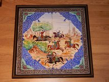 Hand-Painted Tile Art of Hunting Scene in Stuttgart, GE