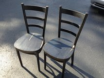 Old maple bent back chairs in Hopkinsville, Kentucky