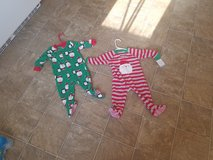 Boys size 12 month footed sleepers *Christmas* in Leesville, Louisiana
