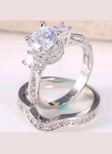 Sterling silver fashion white topaz ring set of 2! I have 3 sizes available! in Lawton, Oklahoma