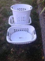 Three laundry baskets in Vacaville, California