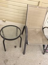 Patio chair and side table in Colorado Springs, Colorado