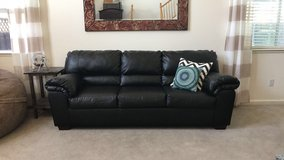 Black Leather Couch in Vacaville, California